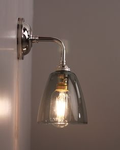 Vintage antique industrial bowl sconce loft wall light wall lamp e27 contemporary wall light with pixley smoked glass shade aloadofball Images