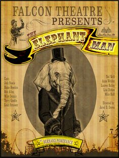 Playbill for The Elephant Man at Falcon Theatre, 2011