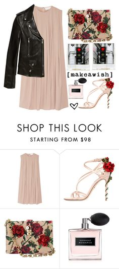 """Sem título #1741"" by karineminzonwilson ❤ liked on Polyvore featuring CO, Dolce&Gabbana, Ralph Lauren, Polaroid, Yves Saint Laurent, Pink, black, soft, Heels and Flowers"