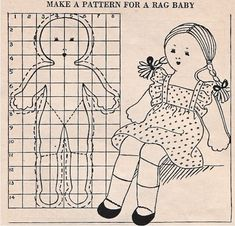 Image detail for -Make A Pattern For A Rag Baby - Ruth Wyeth Spears, 1937
