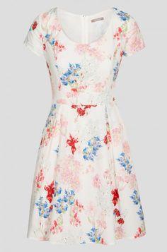 Rozkloszowana sukienka w kwiaty | ORSAY