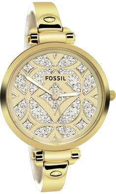 Fossil Watches, Women's Georgia Three Hand Stainless Steel Watch - Gold-Tone #ES3293