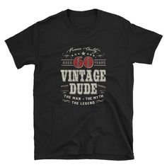 birthday gift for men Vintage Dude 50 years ago birthday 50 years old tshirt 50 years anniversary gift 50 years old 60th Birthday Gifts For Men, Old Man Birthday, Grandpa Birthday Gifts, 60th Birthday Party, Year Anniversary Gifts, Anniversary Surprise, Personalized Shirts, 50 Years Old, Vintage Men