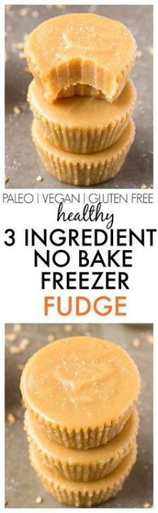 Healthy No Bake 3 In Healthy No Bake 3 Ingredient Freezer Fudge...  Healthy No Bake 3 In Healthy No Bake 3 Ingredient Freezer Fudge ready in TWO minutes including prep! Smooth creamy and decadent but with NO butter condensed milk dairy or sugar! {vegan gluten free paleo recipe}- thebigmansworld.com Recipe : http://ift.tt/1hGiZgA And @ItsNutella  http://ift.tt/2v8iUYW