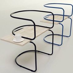 @SoudaBrooklyn: AIR Chair by #ukrainiandesigner Sergei #Kotsepup, constructed of only #curvedmetal and wooden planks From Souda's instagram