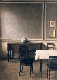 """Interior with Punch Bowl"" (Strandgade 30) by Vilhelm Hammershøi / Oil on Canvas / (1904)"