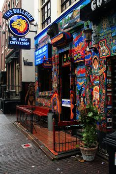 The Bulldog - Coffee Shop - Amsterdam, The Netherlands. Where I took my first magical Amsterdam journey Places Around The World, Oh The Places You'll Go, Places To Travel, Around The Worlds, Travel Things, I Amsterdam, Amsterdam Travel, Amsterdam Coffee Shops, Amsterdam Tattoo