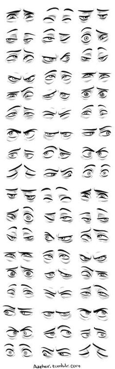 Character Design Collection: Eyes Anatomy : Semi-realistic