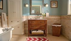 Abbey Bath Vanity with Oasis Stone Effects Vanity Top and decorative basket is an all-in-one bath remodel solution. It will provide plenty of storage space for bathroom cleaners, shampoo and other bath essentials.