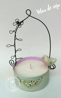 Chicken Wire, Recycling, Candle Holders, Candles, Crafts, Diy, Green Cabinets, Jars, Recycled Jars