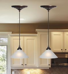 Screw-In Pendant Lighting - Fits over recessed cans with no electrician needed.  Plow & Hearth