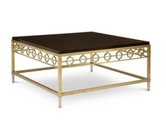 Shop for Chaddock Buzz Cocktail Table, 1319-40, and other Living Room Tables at Chaddock in Morganton, NC. Wood Top with Brass and Nickel Base.  Top available in any finish with the base only available in 5725 Brass.