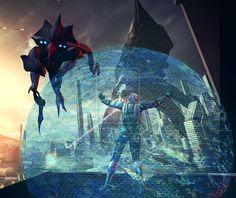 Mass Effect 3 - Liara biotic field by Nasirhatfield