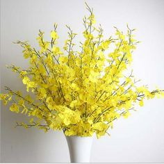 Teasun Artificial Oncidium Orchid Silk Flower Home Wedding Party Decoration(pack of 10,yellow) >>> Be sure to check out this awesome product.
