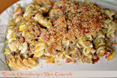 Bacon Cheeseburger Mac Casserole #CountryCrockCasserole  - Easy to Make.