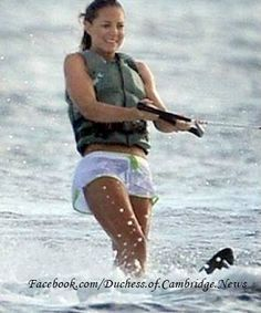 August 8, 2008 - Kate water skiing off the coast of Mustique.