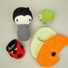 lalylala crochet pattern LADYBIRD / LADYBUG beetle Life