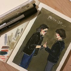 """6,634 Likes, 84 Comments -  billy (@xbillyevans) on Instagram: """"process #richietozier #finnwolfhard #art #sketch #drawing #watercolor"""""""