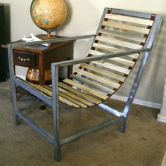 Pneumatic Addict Furniture: Wood and Leather Sling Chair – Diy Furniture Ideas Furniture Projects, Furniture Plans, Furniture Makeover, Diy Furniture, Furniture Design, Homemade Furniture, Furniture Buyers, Modular Furniture, Furniture Chairs