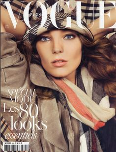 Daria Werbowy by Inez & Vinoodh on the cover of Vogue Paris August 2009