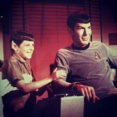 Adam and Leonard Nimoy