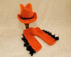 Cowboy Baby Hat Chaps Pistol Pete OSU Oklahoma State Texas Longhorns Cowboys Pokes Girl Pom-pom  Beanie Child on Etsy, $40.00