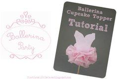 {Ballerina Party} Tutu cupcake topper TUTORIAL !   That Cute Little Cake