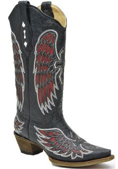 Biker Boots With Angel Wings