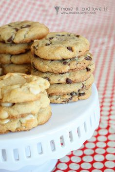GF cookies-Ingredients: 1 cup butter (softened) 3/4 c. sugar 3/4 c. brown sugar 2 eggs 1 tsp. vanilla 2 1/4 c. rice flour** 1 tsp. baking soda 2 tsp. xanthan gum** 1 tsp. salt 12 oz. choc. chips (or other variety)