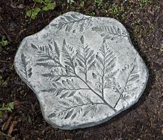 Fossil Fern Stepper cast stone stepping stone made by Campania International