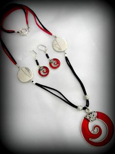 Red and White Necklace