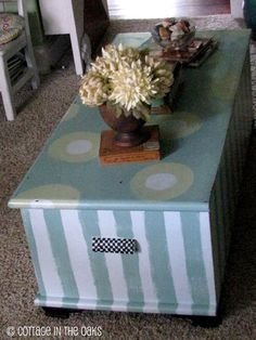 Painted cedar trunk #diy