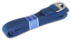 Wai Lana Yoga Strap, 10 feet, Navy Blue