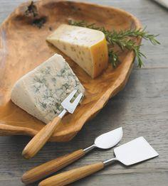 Teak Cheese Knives - VivaTerra