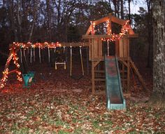 Christmas lights on play structure emilyaclark blog