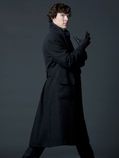 Sherlock (in one of, if not the, greatest coat ever!)