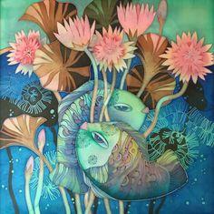 LARISA LUKASH batik картины, рисунки Полтава-Украина