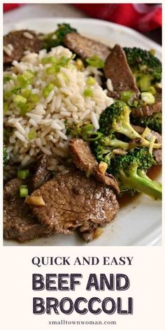 Beef and Broccoli is a quick and easy dinner recipe perfect for busy weeknights! Crisp stir-fried broccoli is paired with tender cuts of beef in a tasty salty-sweet Asian beef sauce. It is a delicious meal made in just one skillet and is on the table in less than 30 minutes! Save this pin!