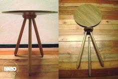 Mesa UFO #table #UFO #wood #design #handcraft #diseño #madera @macrocefalo