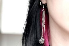 Roses and Spikes Earrings. $11.71, via Etsy.