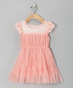 Take a look at this Pink Tiana Dress - Toddler & Girls by POP Couture on #zulily today!