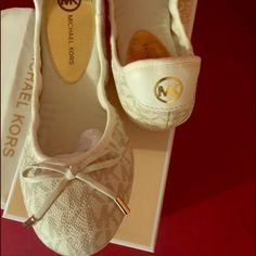 Michael Kors Shoes - Micheal Kors logo ballerina flats.