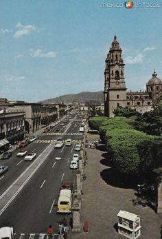 Fotos de Morelia, Michoacán, México: Avenida Francisco I. Madero en la década de los 70´s. Morelia.