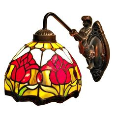 Shop for Amora Lighting Tiffany Style Tulips Wall Sconce Lamp. Get free delivery On EVERYTHING* Overstock - Your Online Wall Lighting Store! Barn Lighting, Wall Sconce Lighting, Wall Sconces, Wall Lamps, Bedroom Lighting, Lighting Ideas, Room Lamp, Tiffany Lamps, Floral Wall