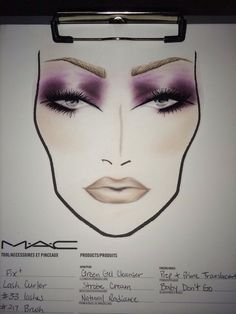 Face chart inspired by the new Malificent movie coming out!