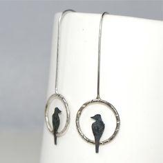 Little bird drop earrings £29.95 Folksy