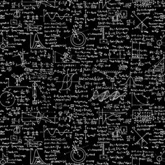 Physics Equations On Chalkboard Fabric By Thin Line Textiles Spoonflower