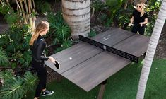 Take your favorite game outside with the Woolsey Outdoor Ping Pong Table. This table uses modern materials to withstand the elements. Ping Pong Table Diy, Outdoor Ping Pong Table, Outdoor Tables, Diy Table, Outdoor Fun, Outdoor Entertaining, Ping Pong Room, Outdoor Ideas, Dining Table