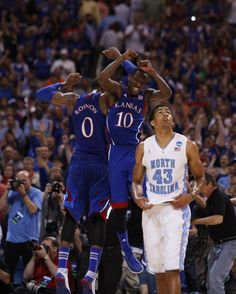 Thomas and Tyshawn have been the leaders all year. They did it again against Carolina to get to KU's 14th Final Four.