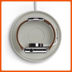 Bluelounge Kosta - Apple Watch Charging Coaster - Light Grey - Little daily helpers (*Amazon Partner-Link)